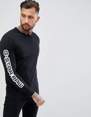 G Star G-Star Beraw Rodis Logo Long Sleeve T-Shirt