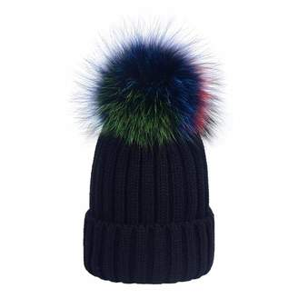 0341ffd8659 MAX Women s Wool Knitted Pom Pom Beanie Hat
