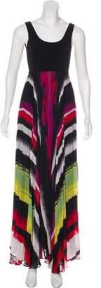 Alice + Olivia Printed Chiffon Maxi Dress
