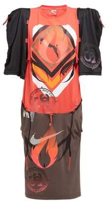 Couture Noki - Customised Street Jersey T Shirt Dress - Womens - Multi
