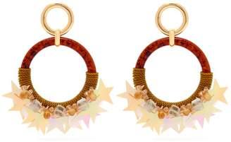 Lizzie Fortunato Starry Night Hoop Earrings - Womens - Multi