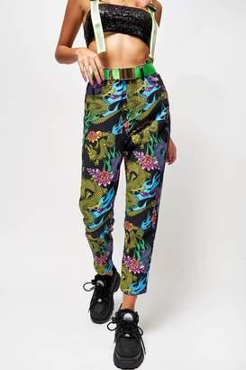 Jaded London Womens **Dragon Print Jeans By Multi