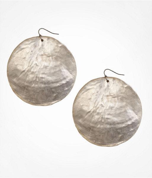 Shimmering Shell Disc Earrings