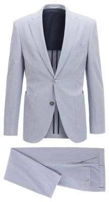 BOSS Hugo Seersucker Suit, Regular Fit Janon/Lenon 42S Light Blue