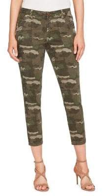William Rast Camouflage Cropped Skinny Jeans