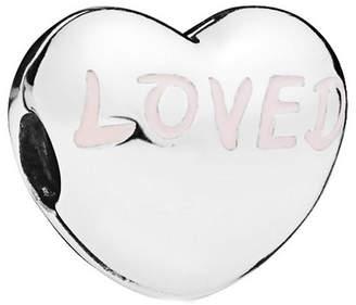 Pandora Silver Enamel Loved Heart Charm