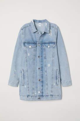 H&M Long Denim Jacket - Blue