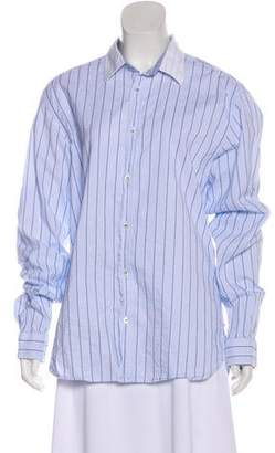 Ted Baker Striped Button-Up Top