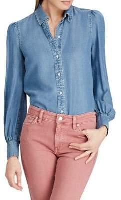Lauren Ralph Lauren Relaxed-Fit Denim Button-Down Shirt