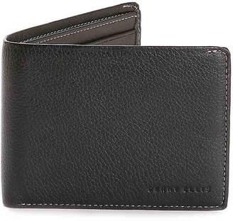Perry Ellis Portfolio Leather Passcase Bifold Wallet - Men's