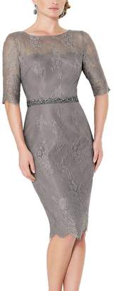 OkayBridal Women's Half Sleeve Short Lace Grandmother of The Bride Dresses Size US Grey