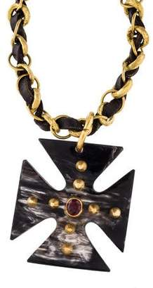 Ashley Pittman Garnet Jioni Pendant Necklace