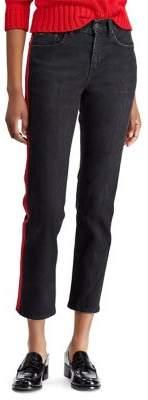 Polo Ralph Lauren Classic High-Rise Stripe Crop Jeans