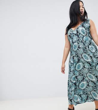 NVME Paisley Print Maxi Dress