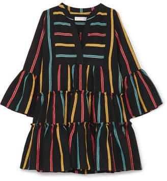 Caroline Constas Lyssa Striped Cotton-blend Mini Dress