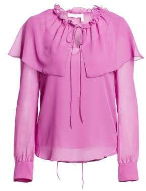See by Chloe Sheer Ruffle Blouse