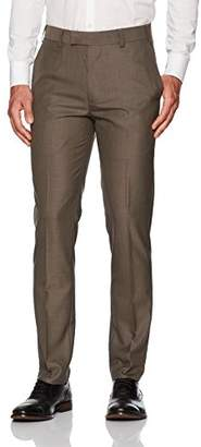 Louis Raphael Men's Slim Fit Flat Front Pin Dot Dress Pant
