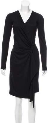 Salvatore Ferragamo Wool Wrap Dress