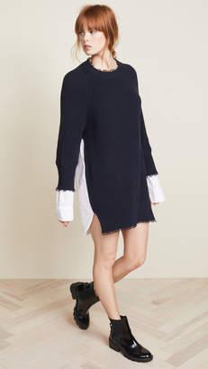 Alexander Wang Hybrid Varsity Sweater Dress