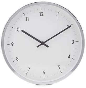 Debenhams Grey Glass And Metal Wall Clock