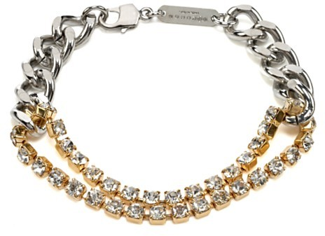 Maison Martin Margiela Mixed Chain and Rhinestone Bracelet