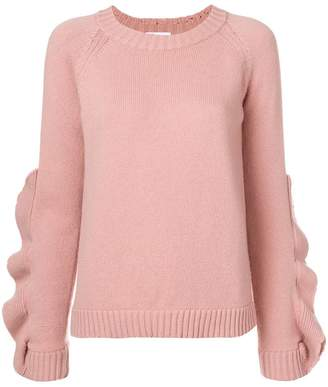RED Valentino ruffle detail sweater