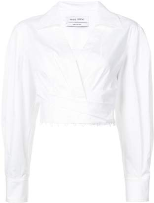 Prabal Gurung long-sleeve cropped blouse