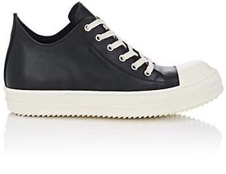 Rick Owens Men's Cap-Toe Leather Sneakers - Black