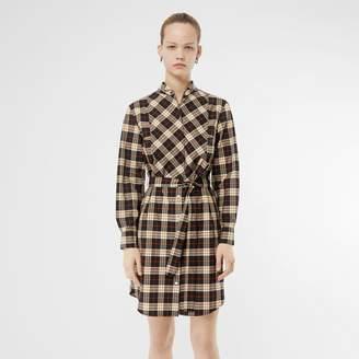 1c6c370c9e87 Burberry Check Cotton Tie-waist Shirt Dress