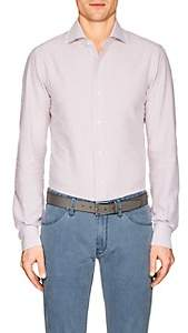 Isaia MEN'S STRIPED COTTON SEERSUCKER SHIRT
