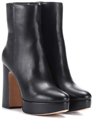 Alexandre Birman Leather plateau ankle boots