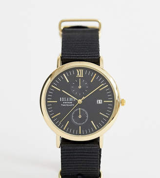 Reclaimed Vintage Inspired Black Canvas Watch In Black Exclusive To ASOS