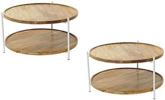 Amalfi by Rangoni Coffee Tables Apex Coffee Table (Set of 2)