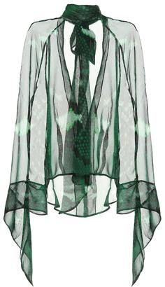 Petar Petrov Barry snake-printed silk blouse