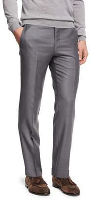 Ermenegildo Zegna Trofeo® Wool Flat-Front Trousers $695 thestylecure.com