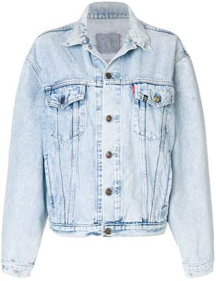 R 13 back patch denim jacket