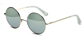Elizabeth and James Mott Mirrored Round Sunglasses $225 thestylecure.com