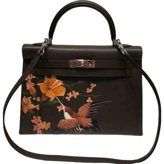 Hermes Kelly 32 Leather Handbag