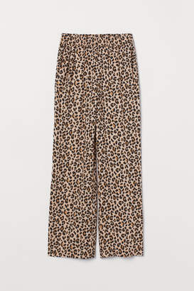 H&M Wide-leg Pants - Beige