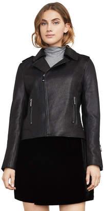 BCBGMAXAZRIA Chase Leather Moto Jacket