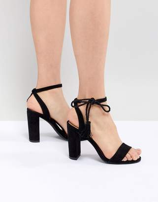 New Look Ankle Tie Block Heeled Sandals