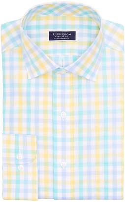 Club Room Men Classic/Regular Fit Performance Multi Gingham Dress Shirt