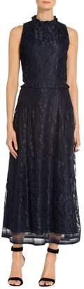 St. John Abstract Leaf Lace Dress