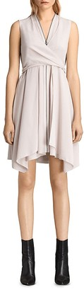 ALLSAINTS Jayda Silk Dress $360 thestylecure.com