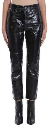IRO Laker Black Leather Trousers