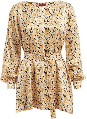 WtR - Storm Print Tunic with Belt Champagne