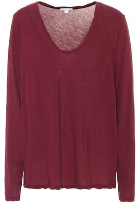 James Perse Heather high-gauge top