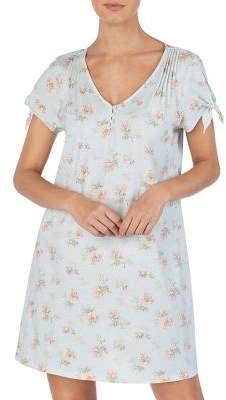 Lauren Ralph Lauren Short-Sleeve Cotton Short Gown