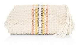 Antonello Tedde Women's Cotton Vertical Striped Clutch