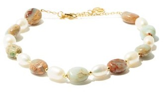 Anissa Kermiche Serpentine And Pearl Gold Plated Anklet - Womens - Multi